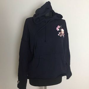 Betsey Johnson Navy Floral Hoodie NWT